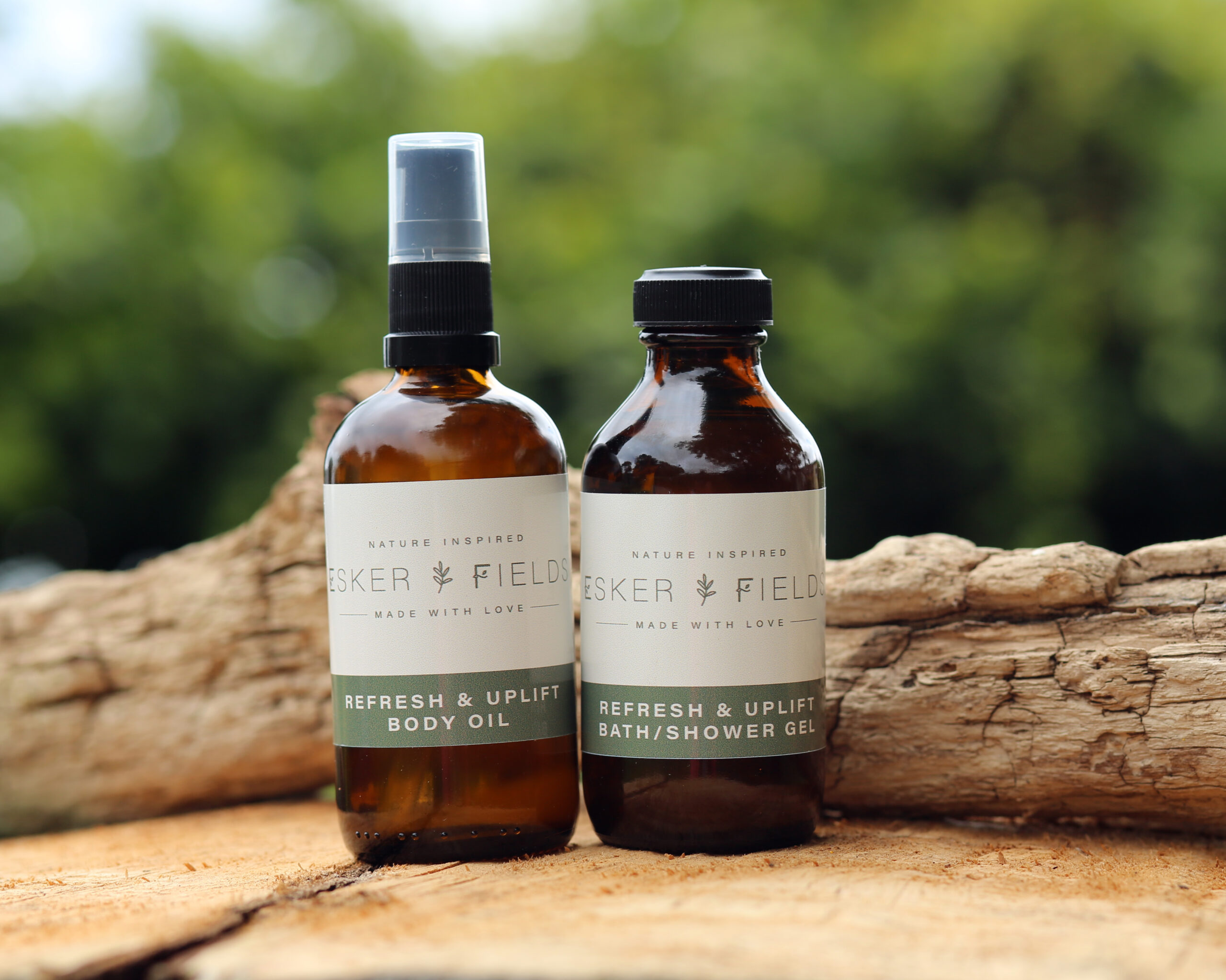 esker fields body oil and shower gel