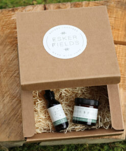 shaving balm and beard oil hamper